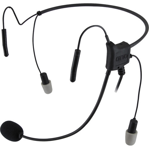 Otto Engineering HurricaneII,LW 2Speaker-29dB,BehindHead,with STD PTT+2.5mm Pigtail for Remote PTT+ Noisez Eartips/M