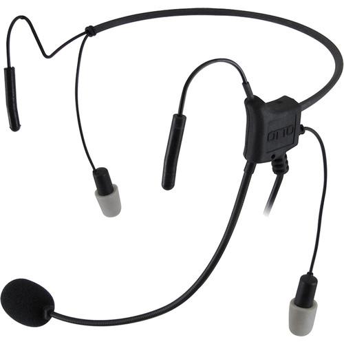 Otto Engineering Hurricane2,Lightweight,2Speaker,BehindHead,STD PTT,2.5mm Pigtail:Remote PTT,Noisez Eartips(Harris/EJ