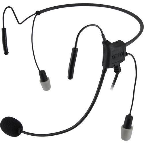 Otto Engineering Hurricane II, Lightweight, Dual Speaker, 29DB Reduction,Behind-The-Head, with Mini PTT and Noisez Ea