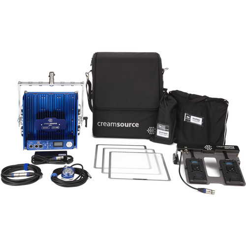 Outsight Creamsource Mini Doppio+ Bender Bi-Color 1x1 LED Panel Gaffer Kit (V-Mount)