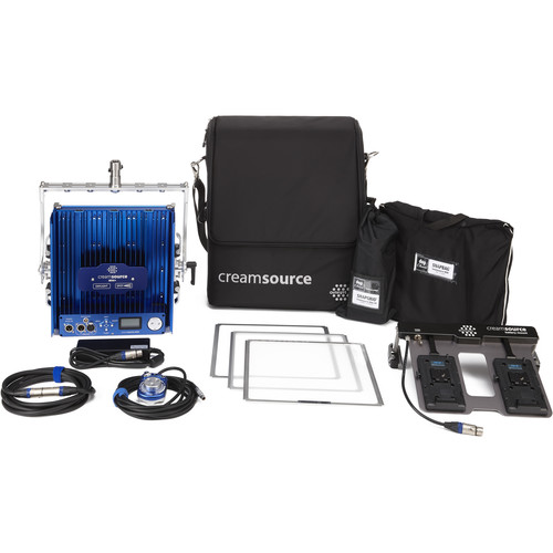 Outsight Creamsource Mini+Daylight LED Panel Gaffer Kit with V-Lock Battery Mount