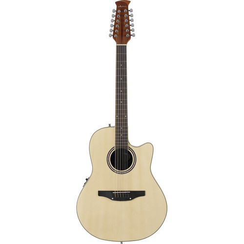 Ovation Applause Balladeer AB2412 12-String Acoustic/Electric Guitar (Natural)