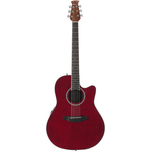 Ovation Applause Balladeer AB24II Acoustic/Electric Guitar (Ruby Red)