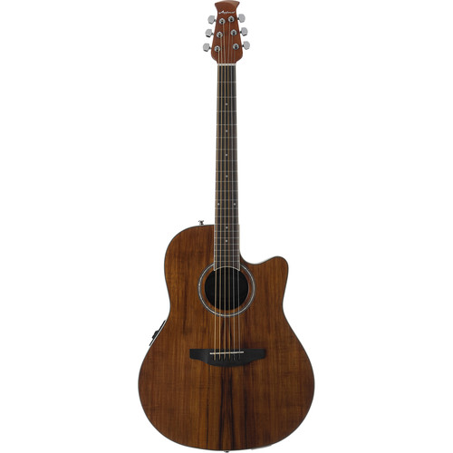 Ovation Applause Balladeer Plus AB24IIP Acoustic/Electric Guitar (Natural Figured Koa Veneer)