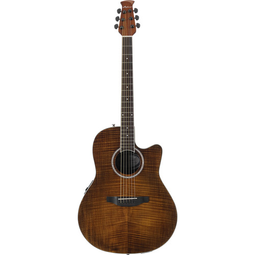 Ovation Applause Balladeer Plus AB24IIP Acoustic/Electric Guitar (Vintage Flame Maple Veneer)