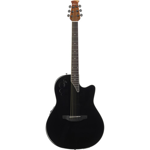 Ovation Applause Elite AE44II Acoustic/Electric Guitar (Black)