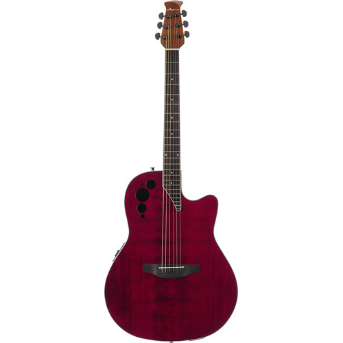Ovation Applause Elite AE44II Acoustic/Electric Guitar (Ruby Red)