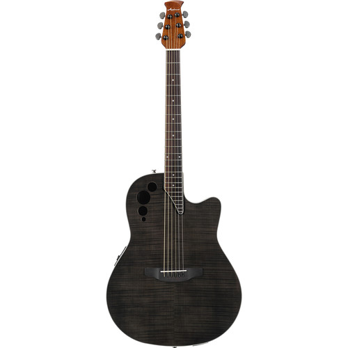 Ovation Applause Elite AE44IIP Acoustic/Electric Guitar (Transparent Black Flame)