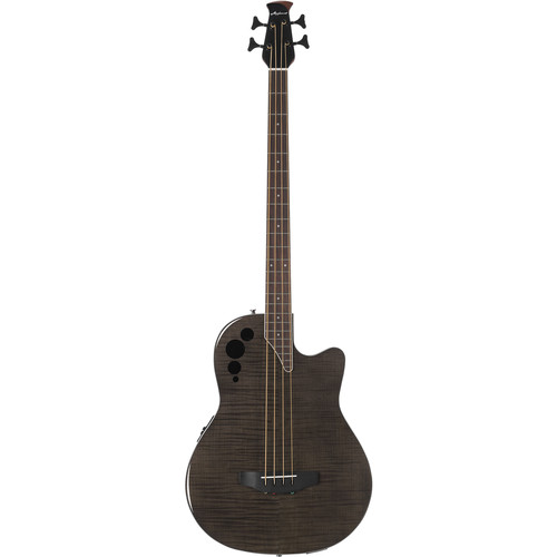 Ovation Applause Elite Exotic Acoustic/Electric Bass (Trans Black Flame)