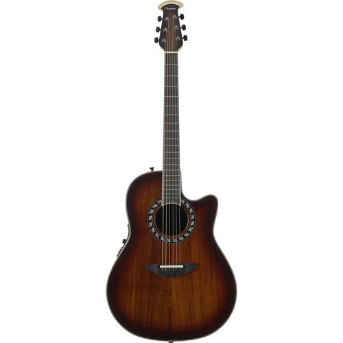 Ovation ExoticWood Legend Deep-Contour Acoustic/Electric Guitar (Aged Natural Burst)