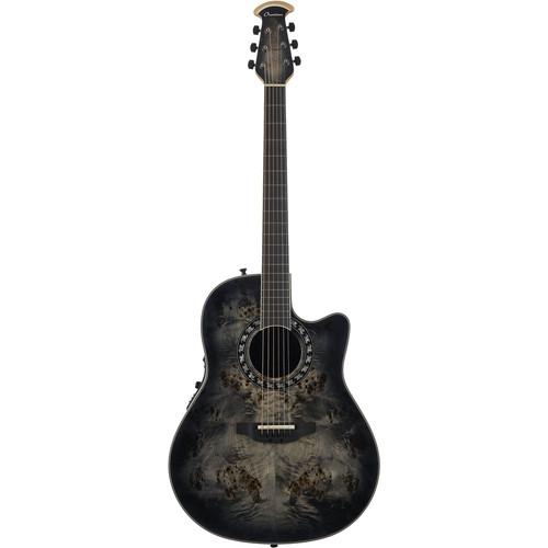 Ovation ExoticWood Legend Acoustic/Electric Guitar (Poplar Burl Burst) + Bag