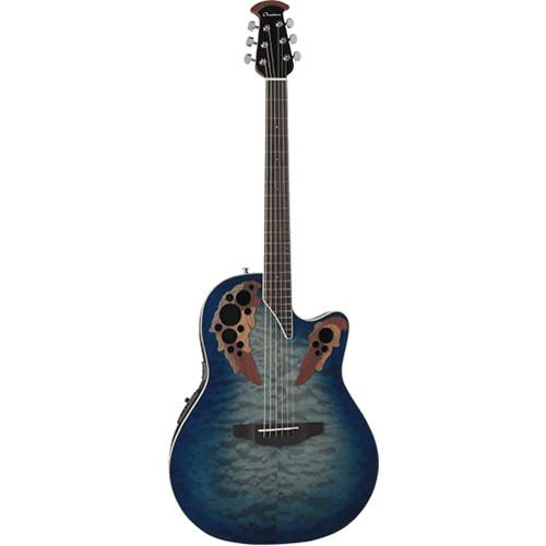 Ovation Elite Plus Celebrity Super Shallow CE48P Acoustic/Electric Guitar (Regal to Natural)