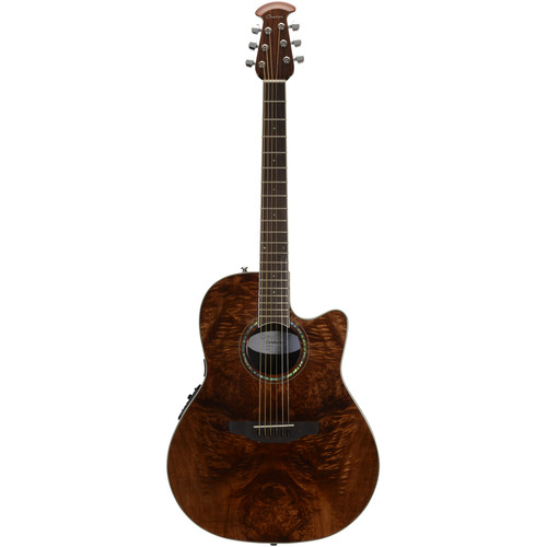 Ovation CS24P Celebrity Standard Plus Series Acoustic/Electric Guitar (Nutmeg Burled Maple)
