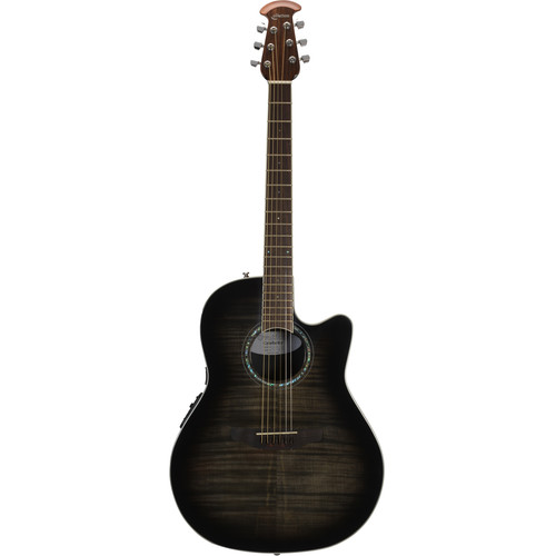 Ovation CS24P Celebrity Standard Plus Series Acoustic/Electric Guitar (Trans Black Flame Maple)