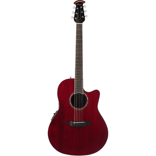 Ovation Celebrity Standard Series CS28 Acoustic/Electric Guitar (Ruby Red)