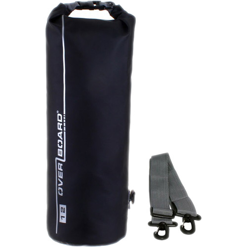 OverBoard Waterproof Dry Tube Bag, 12 Liter Black