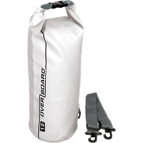 OverBoard Waterproof Dry Tube Bag, 12 Liter White