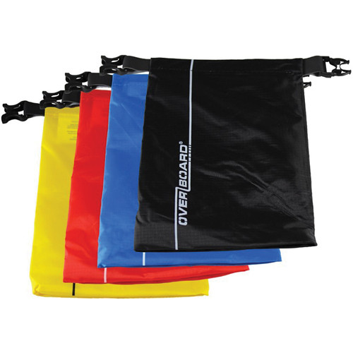 OverBoard Waterproof Dry Pouch Multi-Pack (1 L, 4-Pack, Assorted Colors)