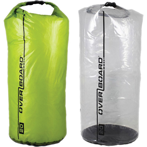 OverBoard Dry Bag Multi-Pack Divider Set (20L, Green and Clear)