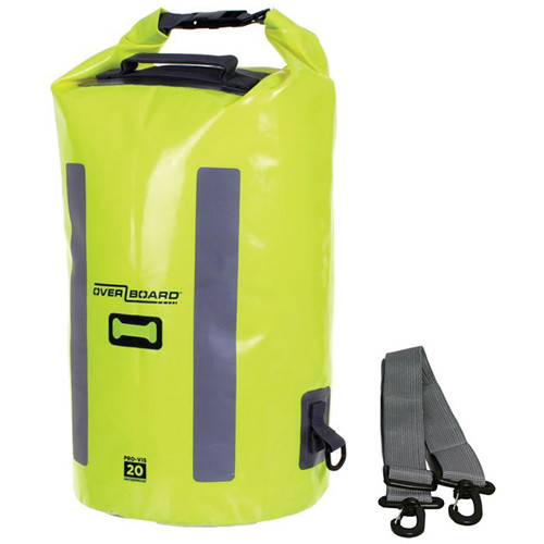 OverBoard Pro-Vis Waterproof Dry Tube Bag (20L, High Visibility Yellow)