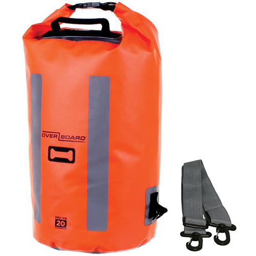 OverBoard Pro-Vis Waterproof Dry Tube Bag (20L, High Visibility Orange)