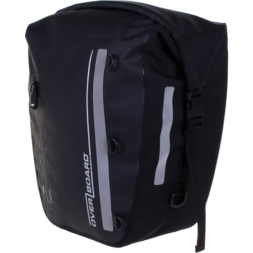 OverBoard Classic Waterproof Back Wheel Bike Pannier (17L, Black)