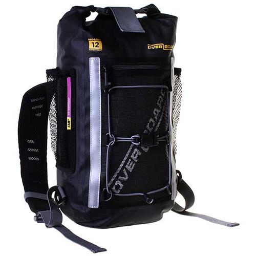 OverBoard Pro-Light Waterproof Backpack (Black, 12L)