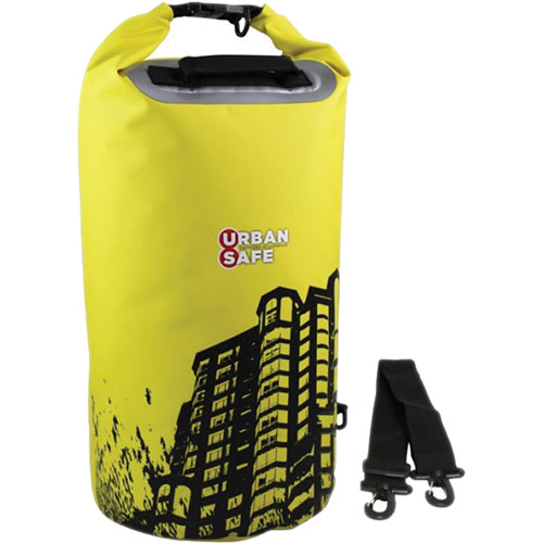 OverBoard Urban Safe Dry Tube (20L, Yellow, Cityscape Print)
