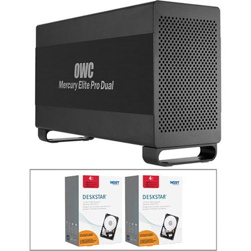 OWC / Other World Computing 8TB (2 x 4TB) Mercury Elite Pro Dual RAID Enclosure Kit