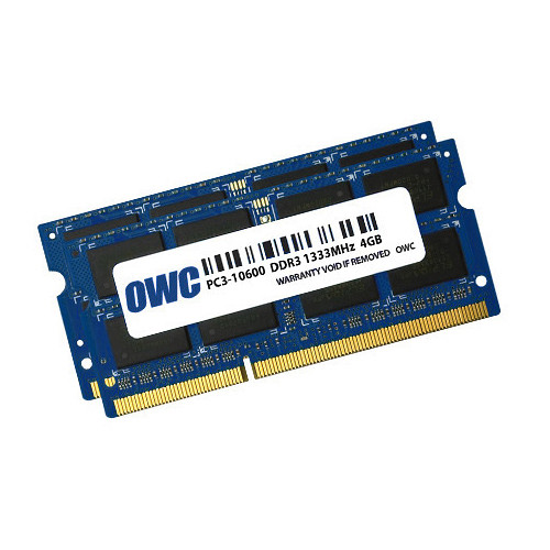 OWC / Other World Computing 8GB DDR3 1333 MHz SODIMM Memory Kit (2 x 4GB, Mac)