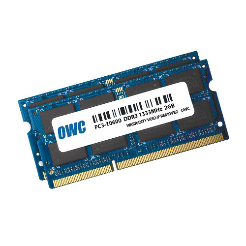 OWC / Other World Computing 4GB DDR3 1333 MHz SO-DIMM Memory Kit (2 x 2GB, Mac)