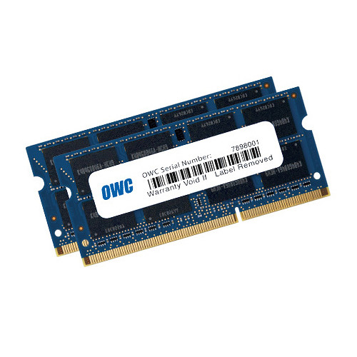OWC / Other World Computing 16GB DDR3 1333 MHz SODIMM Memory Kit (2 x 8GB, Mac)