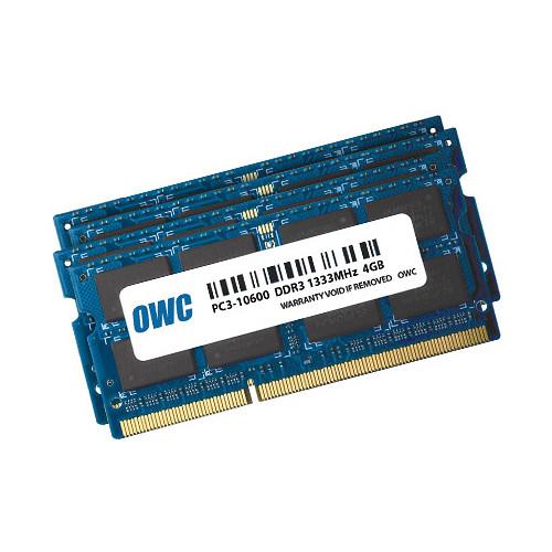 OWC / Other World Computing 16GB DDR3 1333 MHz SO-DIMM Memory Kit (4 x 4GB, Mac)