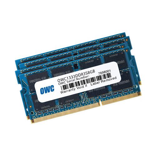 OWC / Other World Computing 24GB DDR3 1333 MHz SO-DIMM Memory Kit (2 x 4GB + 2 x 8GB, Mac)