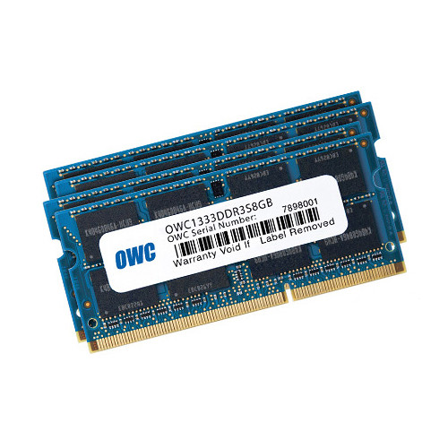 OWC / Other World Computing 32GB DDR3 1333 MHz SO-DIMM Memory Kit (4 x 8GB, Mac)