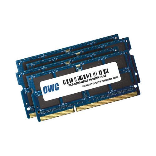 OWC / Other World Computing 16GB DDR3 1066 MHz SO-DIMM Memory Kit (4 x 4GB,Mac)
