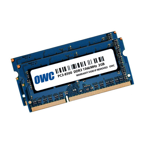 OWC / Other World Computing 4GB DDR3 1066 MHz SO-DIMM Memory Kit (2 x 2GB,Mac)