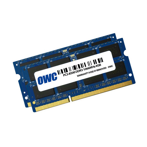 OWC / Other World Computing 8GB DDR3 1066 MHz SO-DIMM Memory Kit (2 x 4GB, Mac)