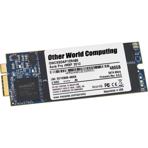 OWC / Other World Computing 480GB Aura Pro 6G SSD for MacBook Pro 2012-2013 with Retina Display