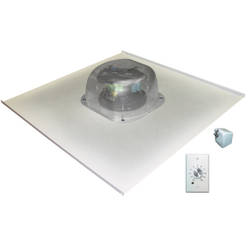 OWI Inc. Amplified Drop Ceiling Speaker on a 2x2 Metal Tile with Volume Control