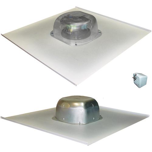 OWI Inc. Amplified Drop Ceiling Speaker on a 2x2 Metal Tile