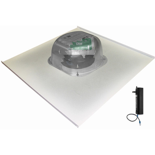 """OWI Inc. 1-One Source, 6"""" Integratable Amplified In Ceiling Speaker on a 2x2 Metal Tile"""