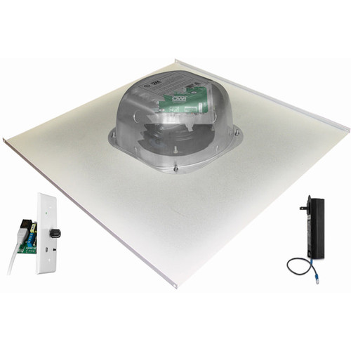 """OWI Inc. 1-One Source,6""""Amped Ceiling Speaker on a 2x2 Metal Tile(/Bluetooth Volume Control)"""