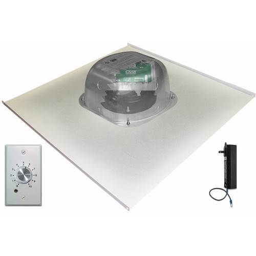 "OWI Inc. 2-One Source,6""Integratable Amped InCeiling Speakers on a 2x2 Metal Tile(w/Volume Control)"