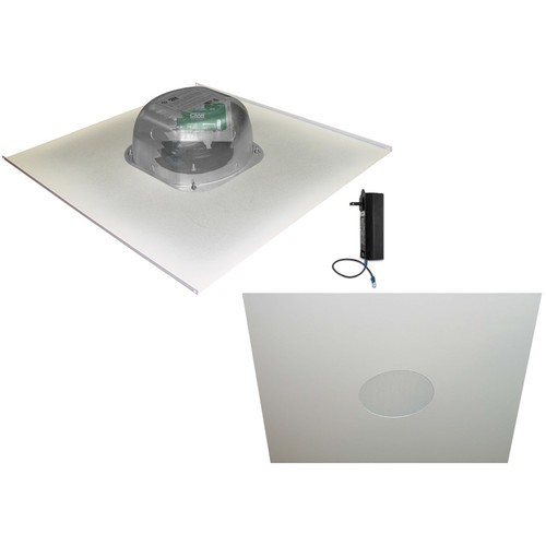 """OWI Inc. 2-One Source,6""""Integratable Amplified In Ceiling Speakers on a 2x2 Metal Tile"""