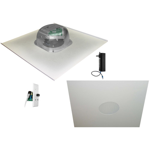 """OWI Inc. 2-One Source,6""""Amped Ceiling Speakers on 2x2 Metal Tile(Bluetooth Volume Control)"""