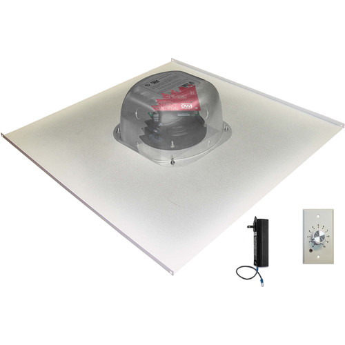 "OWI Inc. 6.5"" Amplified Drop-Ceiling Speaker on a 2 x 2' Tile with Volume Control"