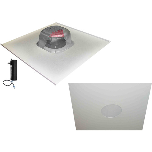 """OWI Inc. 2X2AMP-R2S62 - Amplified 6.5"""" Drop Ceiling Speaker on a 2X2' Tile - Two Speaker Package"""
