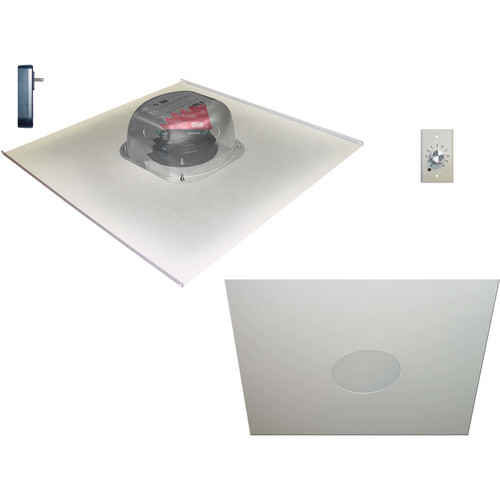 "OWI Inc. Two Source, 6.5"" Amplified Drop Ceiling Speaker on Tile (with Volume Control, 2 Speaker Package)"