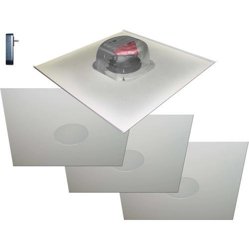 """OWI Inc. Two Source, 6.5"""" Amplified Drop Ceiling Speaker on Tile (4 Speaker Package)"""